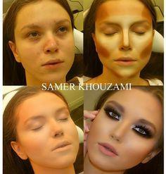 """Sempre que posto alguma foto de """"antes e depois"""" de maquiagem nas redes sociais é sucesso garantido. Acho que os maquiadores são os novos gu..."""