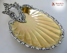 Baroque Shell Dish Parcel Gilt Shiebler 1890 Sterling Silver