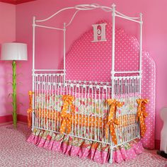 baby girl crib canopy | ... Crib and Nursery Necessities in Interior Design Guide : All Baby Cribs