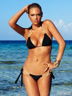 Is it possible to talk about bikinis and not have Kate Upton's name come up? This article will demonstrate that when it comes to bikinis, there's no one that can step into this game like Kate Upton. Sexy Bikini, Black Bikini, Bikini Girls, Black Swimsuit, Cheeky Swimsuit Bottoms, Cheeky Swimsuits, Swimsuits 2014, Bikini Swimsuit, Bikini Set