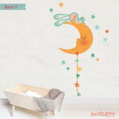 vinilos infantiles dormido en la luna Decals, Kids, Home Decor, Grey Colors, Nordic Style, Canvases, Young Children, Tags, Boys