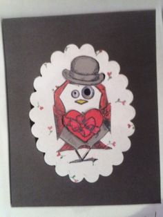 Crazy Bird Carrying Valentine Candy by Carolinakathy - Cards and Paper Crafts at Splitcoaststampers