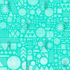 Nick Nelson Modern Elements In Turquoise Duvet Cover | DENY Designs Home Accessories