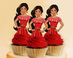 Princess Elena of Avalor Cupcake Toppers, Princess Cupcake Toppers, Elena of Avalor, Elena of Avalor Birthday, Elena of Avalor Party, Cake