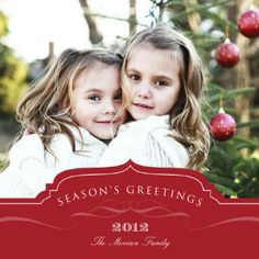 Mixbook Season's Greetings Plaque Holiday Photo Cards
