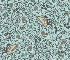 Fairyland Driftwood fabric by spellstone on Spoonflower - custom fabric