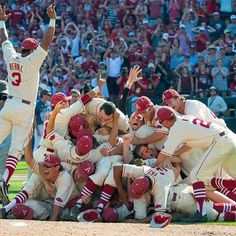 The Arkansas Razorbacks defeated Missouri State by a score of and are headed to the College World Series for the eighth time in program history. Arkansas Razorbacks Baseball, Razorback Baseball, Baseball Tournament, College World Series, Tampa Bay Rays, Texas A&m, Lsu, Cross Country, Bays