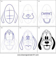 ideas easy cute How to Draw Pluto Face from Mickey Mouse Clubhouse Printable Drawing Sheet by Dr. How to Draw Pluto Face from Mickey Mouse Clubhouse Printable Drawing Sheet by Drawing Cartoon Characters, Cartoon Sketches, Disney Sketches, Character Drawing, Cool Cartoon Drawings, Drawing Cartoons, Character Design, Disney Characters, Cartoon Disney