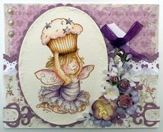 Stampavie, Mo Manning, girl card, Distress Ink