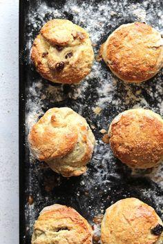 irish scones on tray