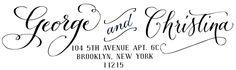 "Image of Custom ""Calligraphy Accent"" Handwritten Return Address Stamp"