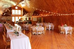 Interior shot of our renovated barn for wedding receptions. Barn Wedding Venue, Barn Weddings, Wedding Receptions, Homestead Farm, Farm Barn, Country Chic, Homesteading, Rustic, Table Decorations