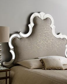 John-Richard Collection Scrolled Upholstered Headboard