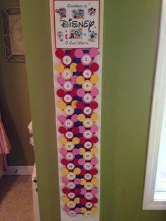 Countdown to Disney - calendar idea. #Disney #DIY #Craft