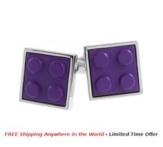 Square Block Cufflinks Purple Price: USD $25 Details: These Square Block Cufflinks are made from Brass-Alloy base matel, Purple enamel coloring and detailing. Exclusive new design with very detailed work and finishng. Each Pair is packed in Black Exclusive Rudolph Alexander Gift Box.  #rudolphAlexander #freeshipping #cufflinks #seller #sellershop #sellers #gift #metal #giftbox #purple #lego #legoCufflink