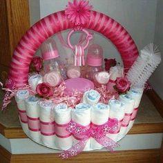 Diaper basket by TiffanyBoyington on Etsy