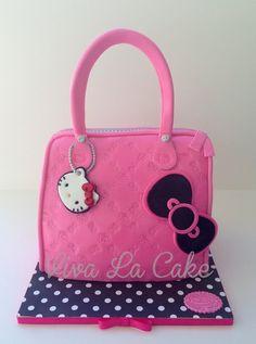 Hello Kitty Purse - by vivalacake @ CakesDecor.com - cake decorating website