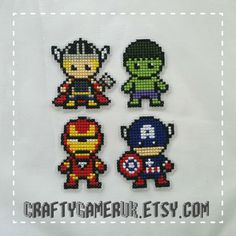 Avengers Cross Sitich Pattern Bundle. Thor, Iron Man, Hulk and Captain America. Digital Download