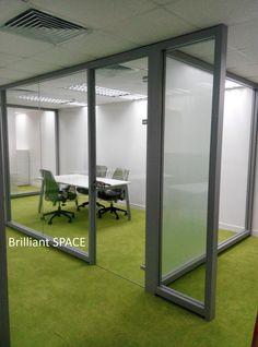 Glass System Wall 新蒲崗勤達中心 (1框雙清玻璃屏風) 4