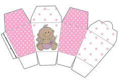 Cajitas imprimibles de bebitas 2. | Ideas y material gratis para fiestas y celebraciones Oh My Fiesta!