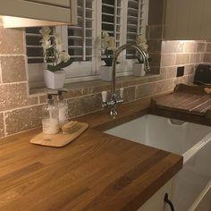 Going Green with These Kitchen Disposal Ideas Wooden Kitchen, Kitchen Tiles, Kitchen Decor, Rustic Kitchen, Kitchen Shutters, Window Shutters, Window Cornices, Kitchen Lighting Design, Kitchen Furniture