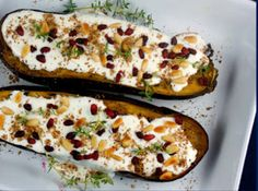 Inspired by Chef Ottolenghi (Mediterranean, Middle Eastern and Asian food)  Ottolenghi's Eggplant with Buttermilk-Yogurt Sauce, Thyme, Za'atar & Pomegranate