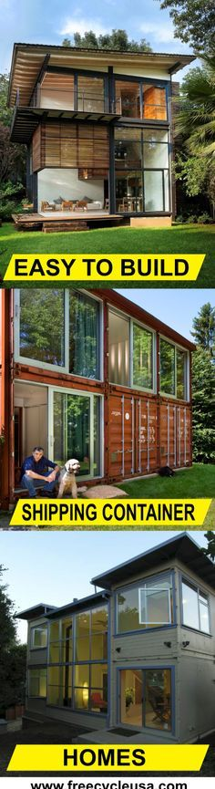 Container House - Lean how to build a Shipping Container Home with the best plans period. - Who Else Wants Simple Step-By-Step Plans To Design And Build A Container Home From Scratch? Building A Container Home, Storage Container Homes, Container Buildings, Container Architecture, Container House Plans, Container House Design, Architecture Design, Storage Containers, Sustainable Architecture