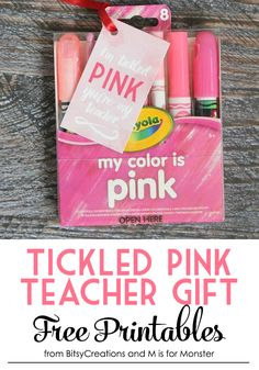 Tickled Pink Teacher Gift Free Printables