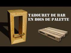 Table et tabourets de palettes en bois meubles et objets - Tabouret de bar en bois brut ...