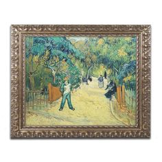Public Gardens in Arles, 1888 by Vincent van Gogh Framed Painting Print