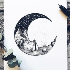 Swedish illustrator Josefine Svärd creates fantastical stippling art that captures the beauty of nature. Each pen drawing is composed of millions of tiny hand-drawn dots, bringing them to life in intricate detail. Dotted Drawings, Cool Art Drawings, Art Drawings Sketches, Sketches Of Nature, Ink Illustrations, Doodle Art, Stylo Art, Drawing Sites, Art Du Croquis