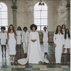 Solange Knowles wed Alan Ferguson in New Orleans in a regal custom cape gown.  #Trendsetter #HumbertoLeonGown