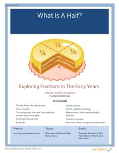 What Is A Half? - Exploring Fractions in the early years. Australian Curriculum Year One & Two. A ten lesson unit plan including an appendix, word problems and a powerpoint.