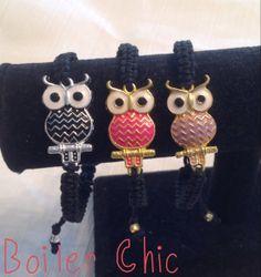 Owl Macramé Bracelet by BoilerChic on Etsy, $14.00