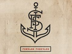 Could I use my initials to create a tatt of an anchor like this....? Hmmm.
