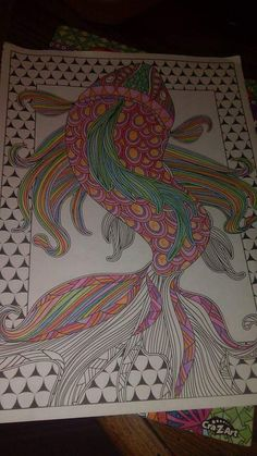 Creation Coloring Pages, Coloring Book Pages, Ocean Art, Black Art, Color Splash, Animals And Pets, Creatures, Tapestry, Colorful
