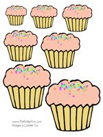 file folder game (Put cupcakes in order from smallest to largest)
