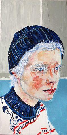 dip- dye I oil on canvas cm Pretty Art, Cute Art, Art Sketches, Art Drawings, Oil Pastel Art, Guache, Art Hoe, Ap Art, Portrait Art