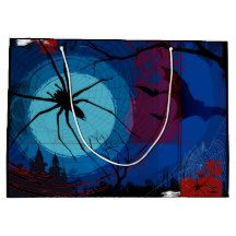 Halloween Spider Web Gift Bag Large Gift Bags, Halloween Spider, Tapestry, Gifts, Home Decor, Hanging Tapestry, Tapestries, Presents, Decoration Home