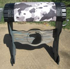 A very popular choice-black and white faux cowhide---also comes in brown and white.