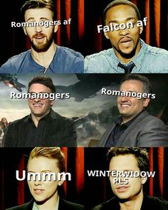 I like how Scarlett's just UMMM || Seb desperately wants winterwidow
