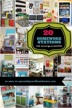 Back to School: 20 Homework Stations | Boy Birthday Party Ideas and Supplies - Spaceships and Laser Beams