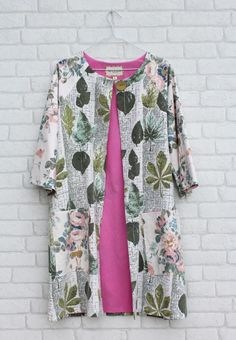 duster coat by ted & agnes. I really need a vintage tablecloth or set of kitchen curtains!