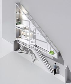 Narrowest house in the world, this project has been recently completed by Polish architect Jakub Szczesny in Warsaw.