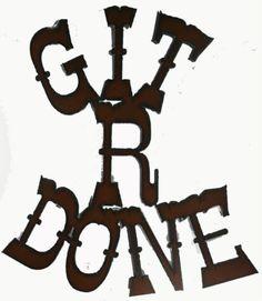 #New! #Rodeo #Funny Magnet Git R Done #Western #Decor #Cowboy Art #Kitchen Frige #Magnet