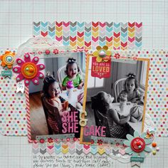 Layout by Stephanie Howell using My Mind's Eye My Girl Collection