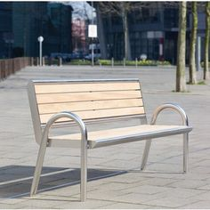Orbis Seat. Consists of a simple steel frame either clad with timber slats or a steel grid design. Many design variations available. Length:2100mm. Height:900mm. Width:620mm.