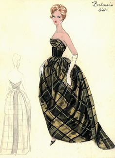 Balmain Evening Gown by FIT Library Department of Special Collections, via Flickr