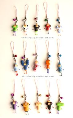 Katamari Cousin Charms by whitefrosty.deviantart.com these would be the cutest christmas ornaments