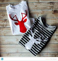 Adorable Deerhead Silhouette tshirts by Tori Grant